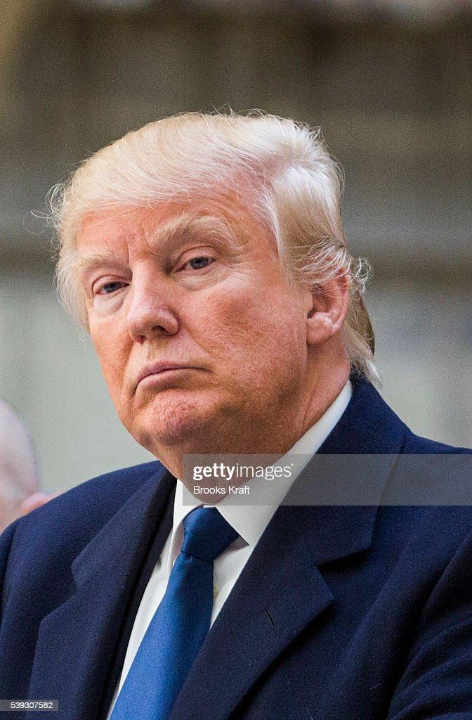 Republican Presidential Candidate Donald Trump in Washington : News Photo
