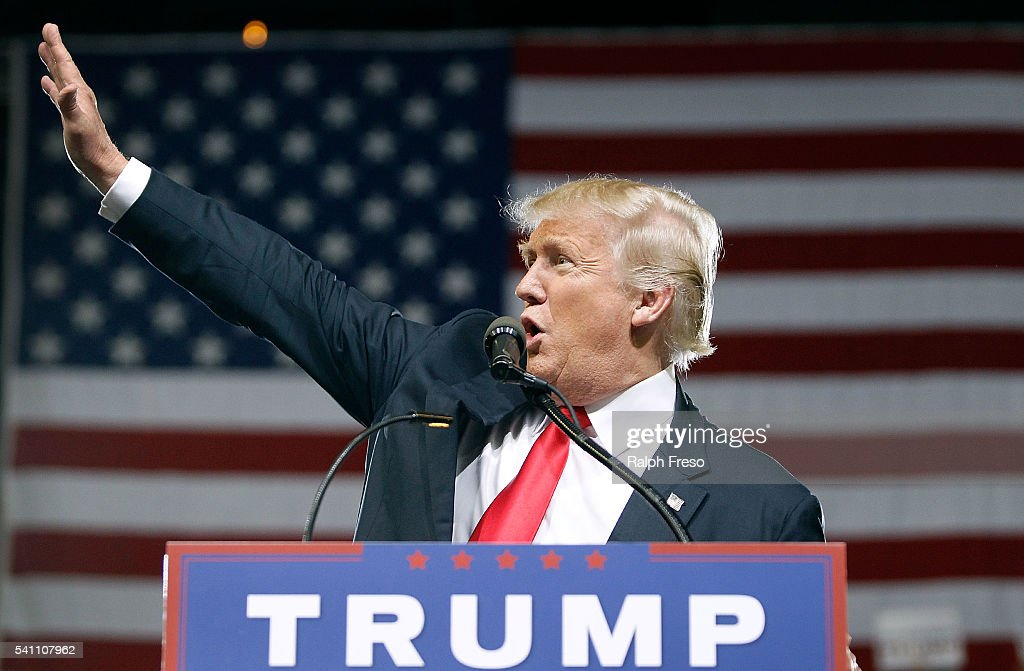 Donald Trump Holds Campaign Rally In Phoenix, Arizona : News Photo