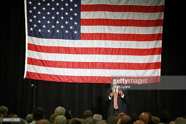 Republican presidential candidate Dr Ben Carson speaks at a campaign rally on September 22 2015 in Sharonville Ohio Carson came under criticism after...