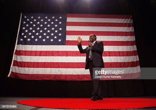 Republican presidential candidate Dr. Ben Carson speaks at a rally at the Anaheim Convention Center, September 9, 2015.