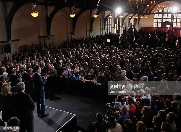 Republican presidential candidate former Massachusetts Gov Mitt Romney speaks during a campaign rally at a grassroots rally at Winthrop University on...