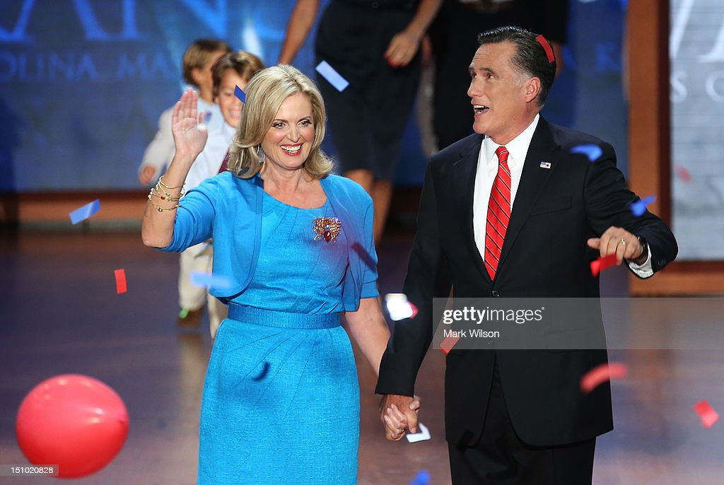Romney Accepts Party Nomination At The Republican National Convention : Nieuwsfoto's