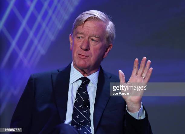 Republican presidential candidate former Massachusetts Governor Bill Weld speaks during a US Presidential Candidates Forum at the 2019 NABJ Annual...