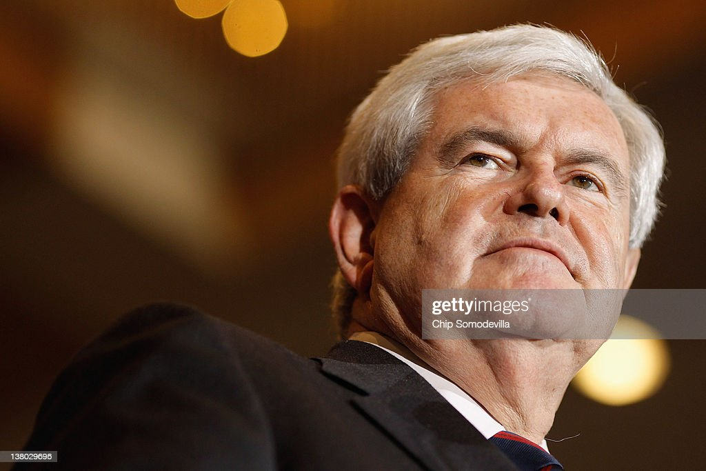 Republican presidential candidate, former Speaker of the House Newt Gingrich speaks during his Florida primary night party January 31, 2012 in Orlando, Florida. According to early results former Massachusetts Gov. Mitt Romney defeated Gingrich, former U.S. Sen. Rick Santorum and U.S. Rep. Ron Paul (R-TX) to win Florida's primary.