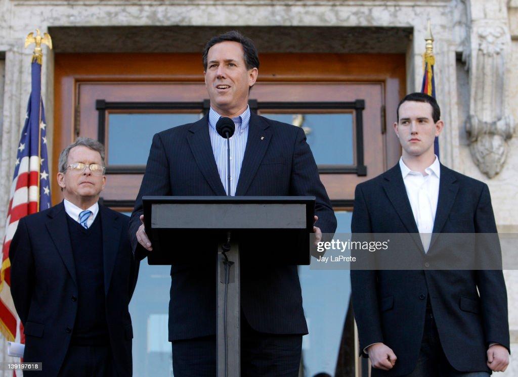Rick Santorum Makes Major Campaign Announcement In Ohio