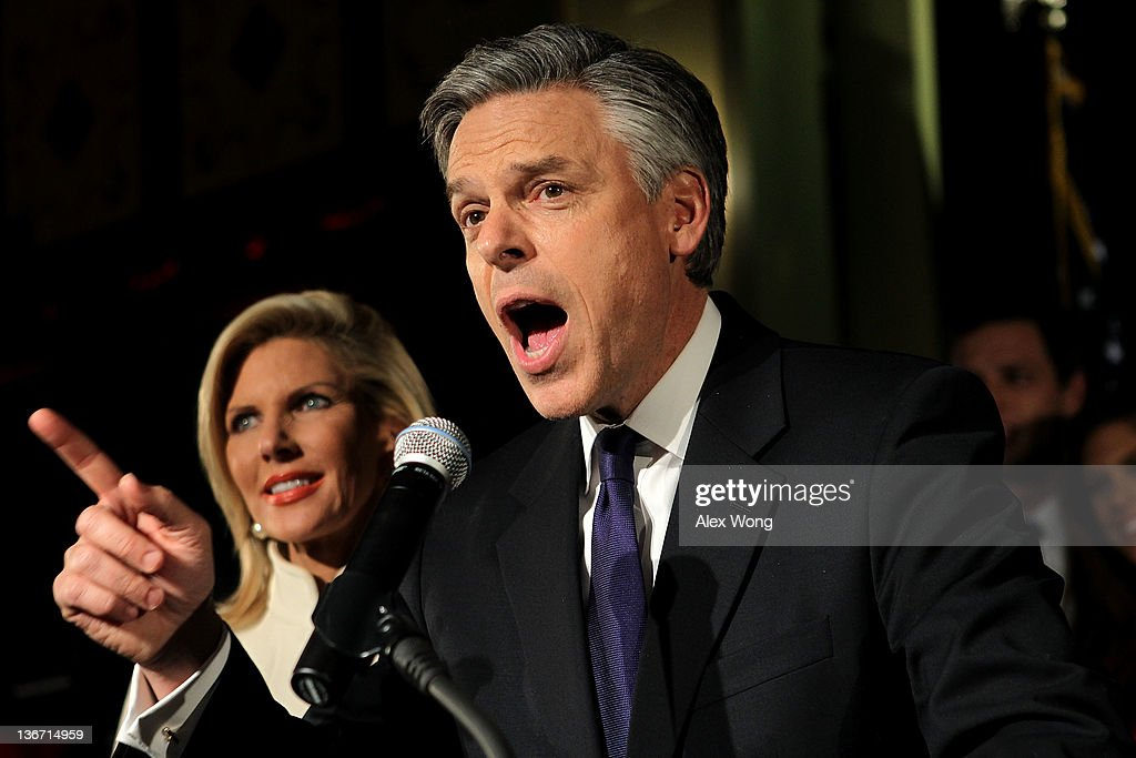 GOP Presidential Hopeful Jon Huntsman Attends NH Primary Rally