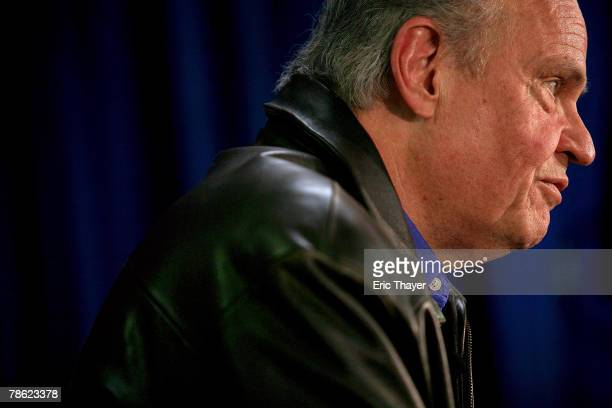 Republican presidential candidate Fred Thompson speaks at a campaign event at the Webster County Republican headquarters December 21 2007 in Fort...