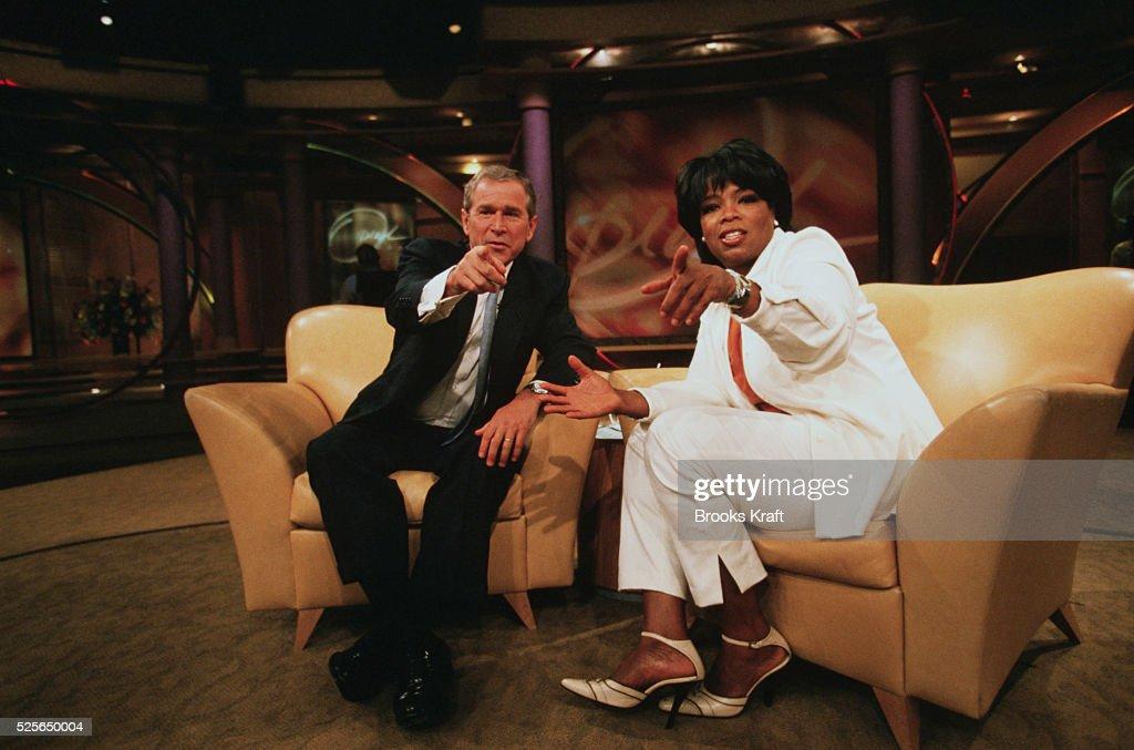 George W. Bush Appearing on Oprah : News Photo