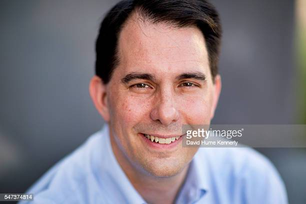 Republican presidential candidate Gov Scott Walker of Wisconsin at the Freedom Partners Chamber of Commerce a freemarket advocacy nonprofit funded by...