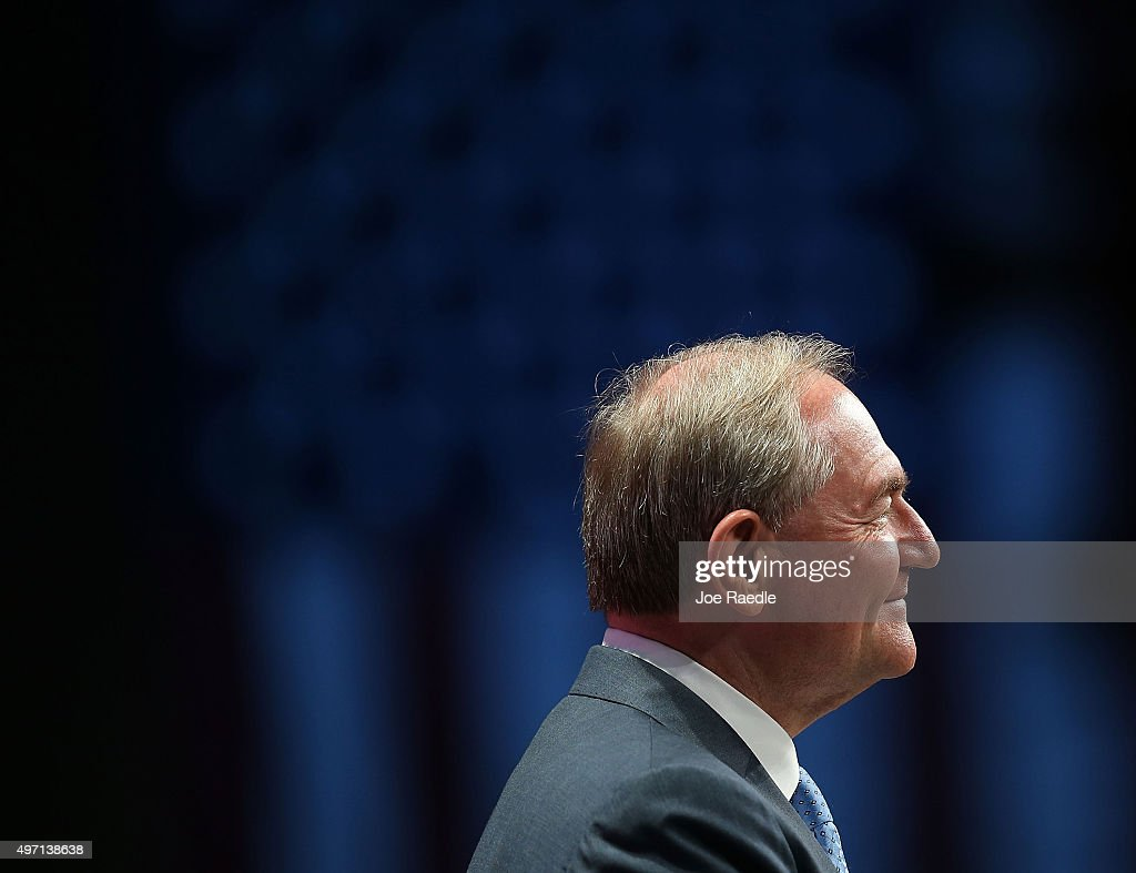 Republican presidential candidate Jim Gilmore speaks during the Sunshine Summit conference being held at the Rosen Shingle Creek on November 14, 2015 in Orlando, Florida. The summit brought Republican presidential candidates in front of the Republican voters.