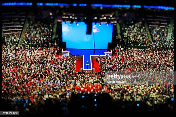 Republican Presidential candidate John McCain addresses the Republican National Convention at the Xcel Energy Center in St Paul