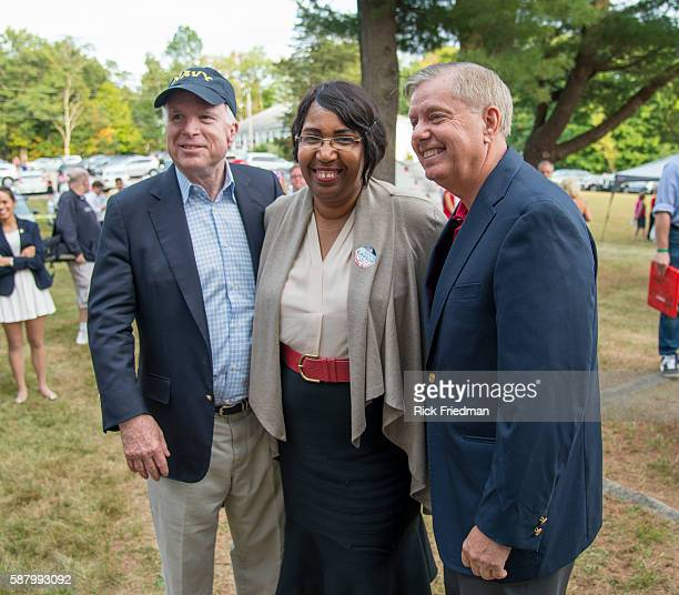 Republican presidential candidate Lindsey Graham Candy Carson wife of Republican presidential candidate Ben Carson and former Republican presidential...
