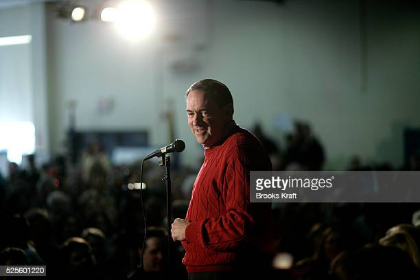 Republican presidential candidate Mike Huckabee during a campaign event in Londonderry.