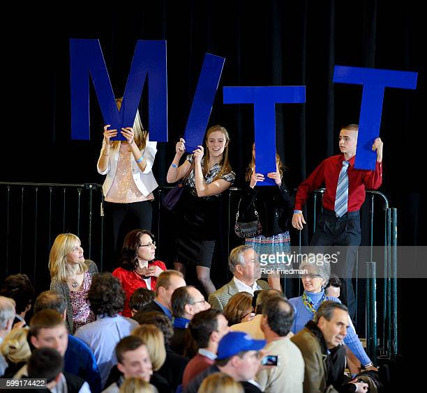 Republican presidential candidate Mitt Romney addressing supporters in Boston MA on Super Tuesday March 6 2012