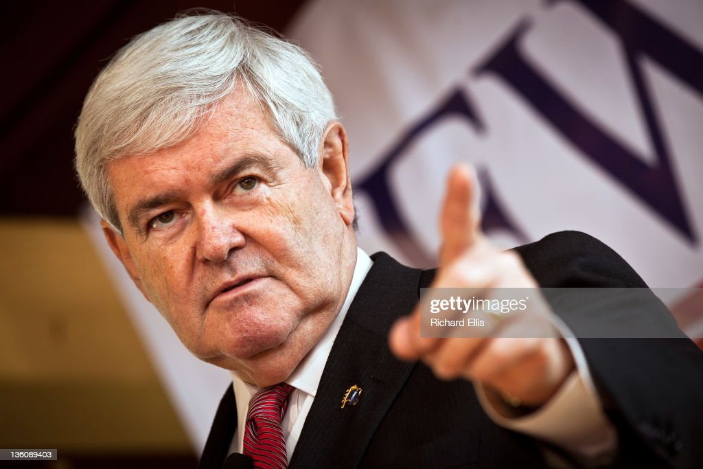 Newt Gingrich Holds Town Hall In South Carolina : News Photo