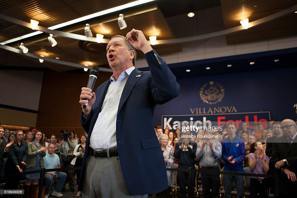 GOP Presidential Candidate Ohio Gov. John Kasich Holds Townhall In Pennsylvania