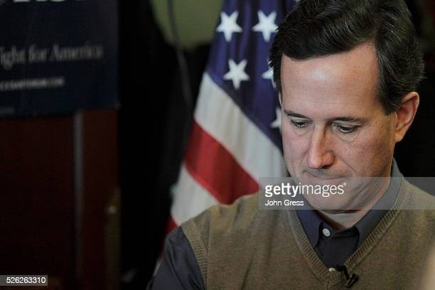 Republican presidential candidate Rick Santorum campaigns at The Hotel Pattee in Perry Iowa January 2 2012
