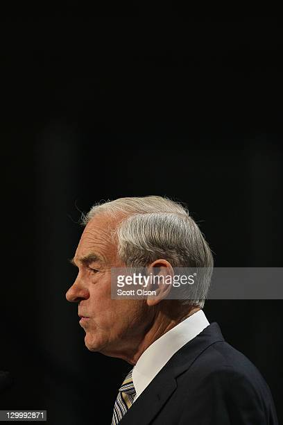 Republican Presidential Candidate Ron Paul speaks to a gathering of conservative Christians at the Iowa Faith Freedom Coalition Presidential Forum on...