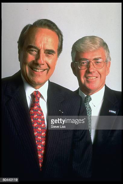 Republican presidential candidate Sen. Bob Dole & running mate Jack Kemp .