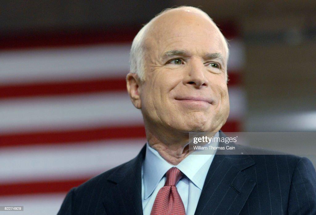 McCain Holds Townhall Meeting In York, Pennsylvania : News Photo