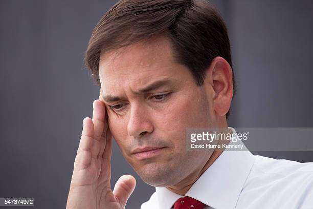 Republican presidential candidate Sen Marco Rubio of Florida at the Freedom Partners Chamber of Commerce a freemarket advocacy nonprofit funded by...