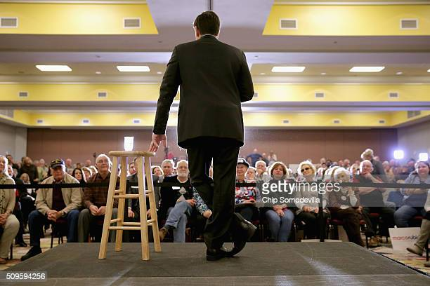 Republican presidential candidate Sen Marco Rubio speaks a campaign town hall meeting at the Crown Reef Beach Resort February 11 2016 in Myrtle Beach...