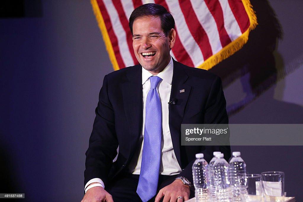 Marco Rubio Discusses The Economy In New York City : News Photo