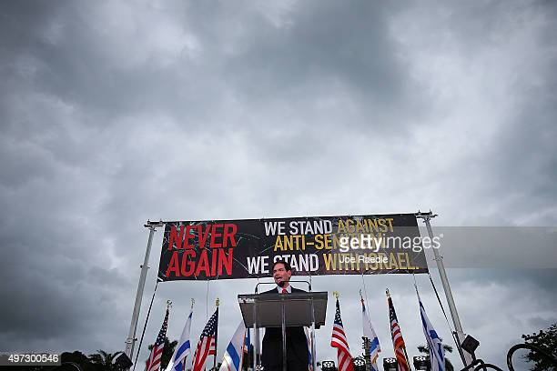 Republican presidential candidate Sen Marco Rubio speaks during a community rally for Never Again which was bringing attention to what the organizers...