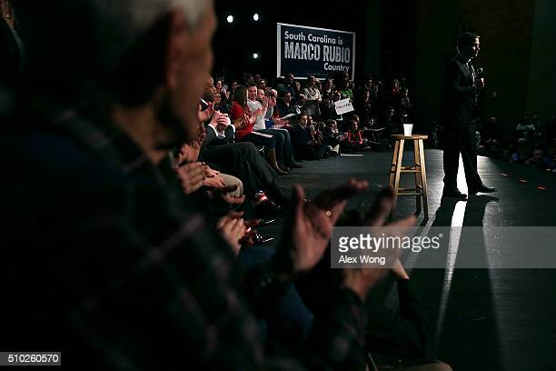 Republican presidential candidate Sen. Marco Rubio speaks to voters during a campaign rally February 14, 2016 in Easley, South Carolina. Rubio...