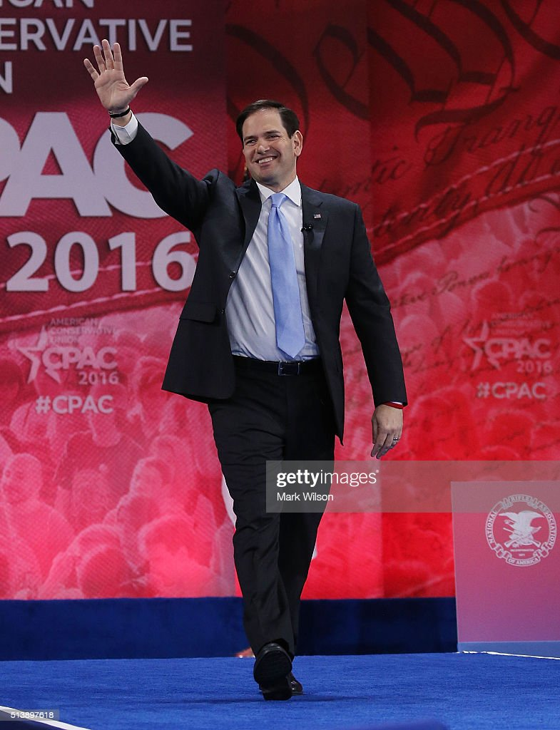 GOP Presidential Candidates Attend CPAC Conference In Washington DC : News Photo