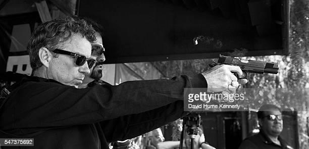 Republican presidential candidate Sen. Rand Paul, of Kentucky, campaigning at a gun range, Simi Valley, California, September 16, 2015.
