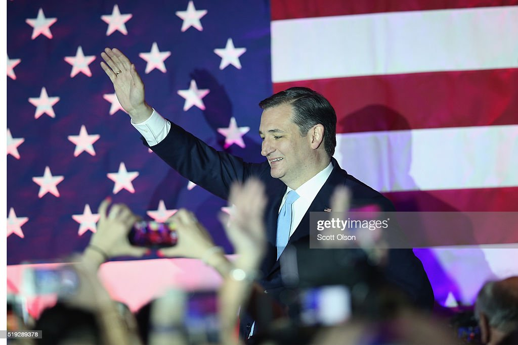 GOP Presidential Candidate Ted Cruz Holds Wisconsin Primary Night Gathering In Milwaukee