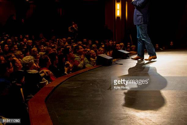 Republican presidential candidate Sen Ted Cruz holds a campaign rally ahead of the Kansas caucuses on March 02 2016 in Overland Park Kansas Cruz is...
