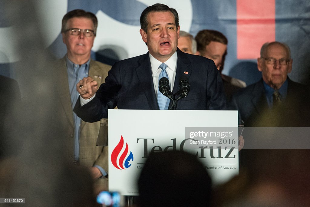 GOP Presidential Candidate Ted Cruz Holds Primary Watch Party In Columbia, SC : News Photo