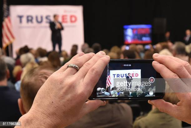 Republican presidential candidate Ted Cruz speaks at a campaign event in Las Vegas Nevada on February 22 2016 Republican presidential contender Ted...