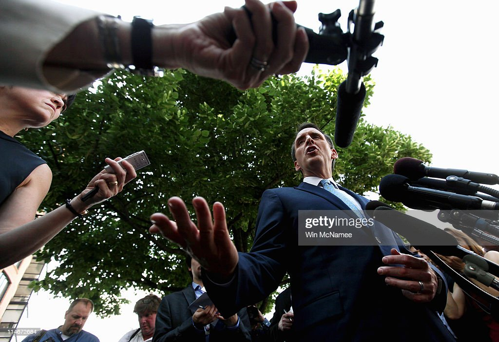 Republican Presidential Candidate Tim Pawlenty Holds Media Availability In DC