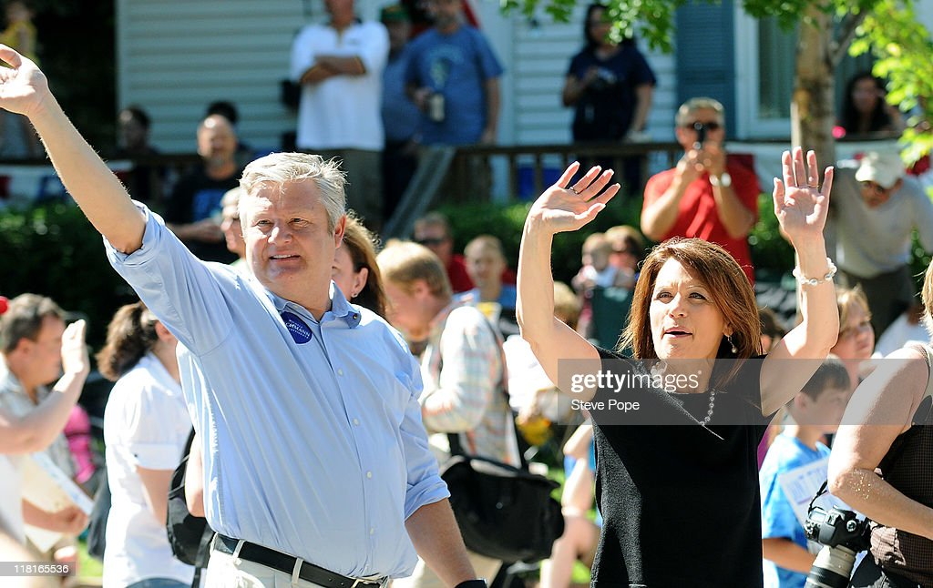 Michelle Bachmann Marches In Iowa Fourth Of July Parade