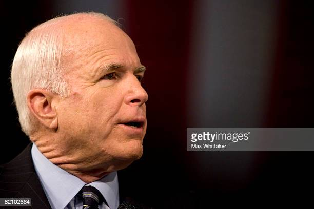 Republican presidential candidate U.S. Sen. John McCain speaks at a town hall meeting at Reed High School on July 29, 2008 in Sparks, Nevada. With...