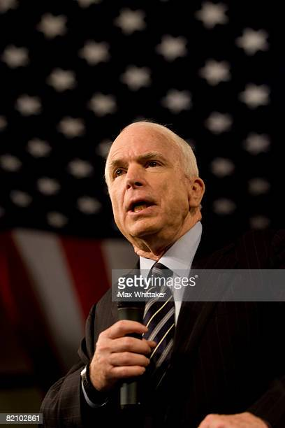 Republican presidential candidate U.S. Sen. John McCain speaks at a town hall meeting at Reed High School July 29, 2008 in Sparks, Nevada. With the...