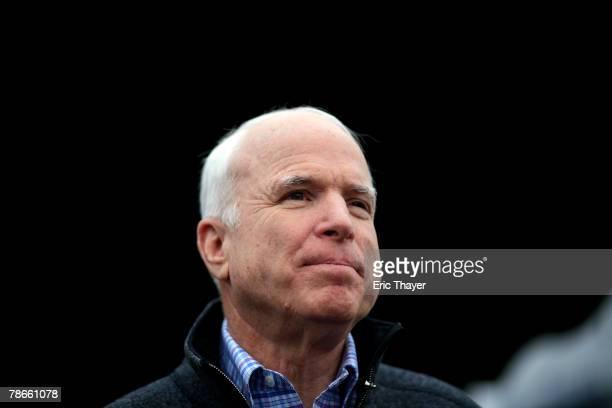 Republican presidential candidate US Senator John McCain speaks at a campaign event December 27 2007 in Des Moines Iowa Presidential candidates...