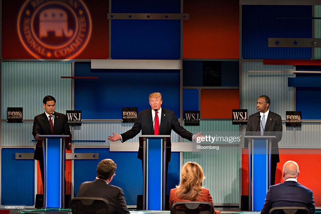 Fox Business And The Wall Street Journal Host Republican Primary Debate : Nachrichtenfoto