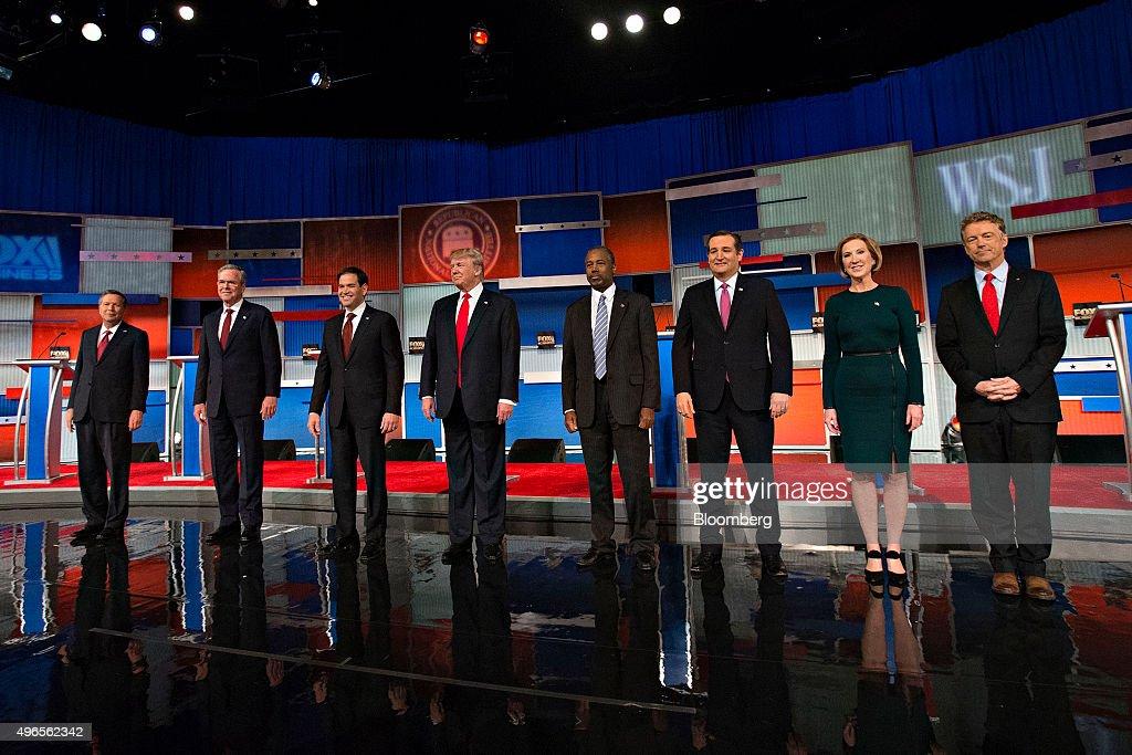 Fox Business And The Wall Street Journal Host Republican Primary Debate : Nachrichtenfoto