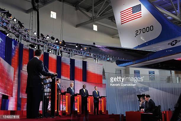 Republican presidential candidates from Rick Santorum Newt Gingrich Michele Bachmann Mitt Romney Rick Perry Ron Paul Herman Cain and Jon Huntsman...