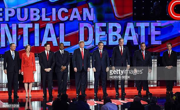 Republican presidential candidates Ohio Governor John Kasich businesswoman Carly Fiorina Florida Sen Marco Rubio retired neurosurgeon Ben Carson...