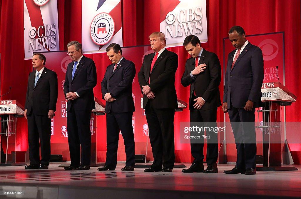 Republican Presidential Candidates Debate In Greenville, South Carolina : News Photo