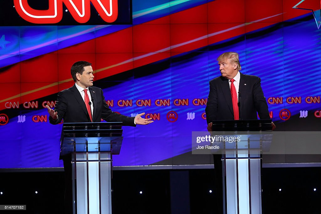 Republican Presidential Candidates Debate In Miami Area : News Photo