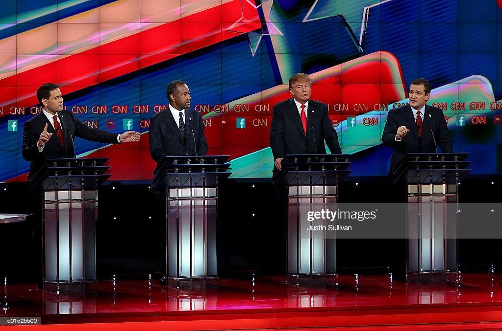 GOP Presidential Candidates Debate In Las Vegas : News Photo