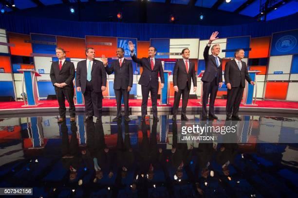 Republican Presidential candidates Senator Rand Paul New Jersey Gov Chris Christie retired neurosurgeon Ben Carson Texas Senator Ted Cruz Florida...