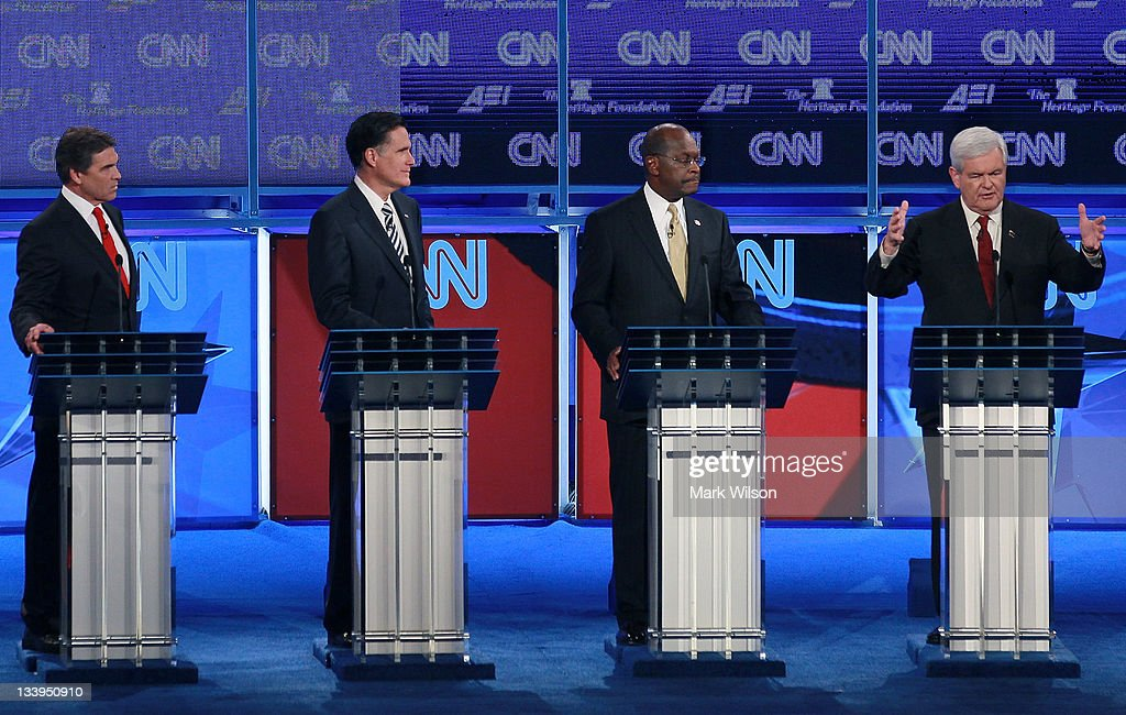 GOP Presidential Candidates Debate National Security Issues In Washington : News Photo
