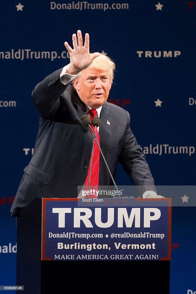 Donald Trump Holds Campaign Rally In Burlington, VT : News Photo